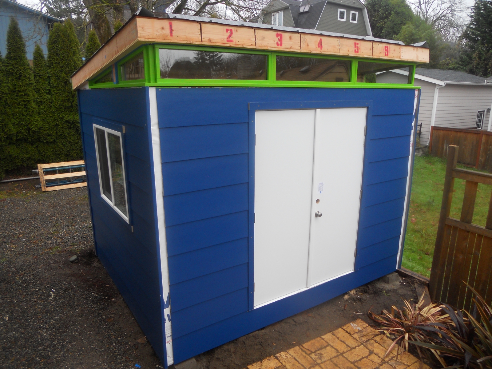Modern Shed Man Cave : Man cave in progress westcoast outbuildings