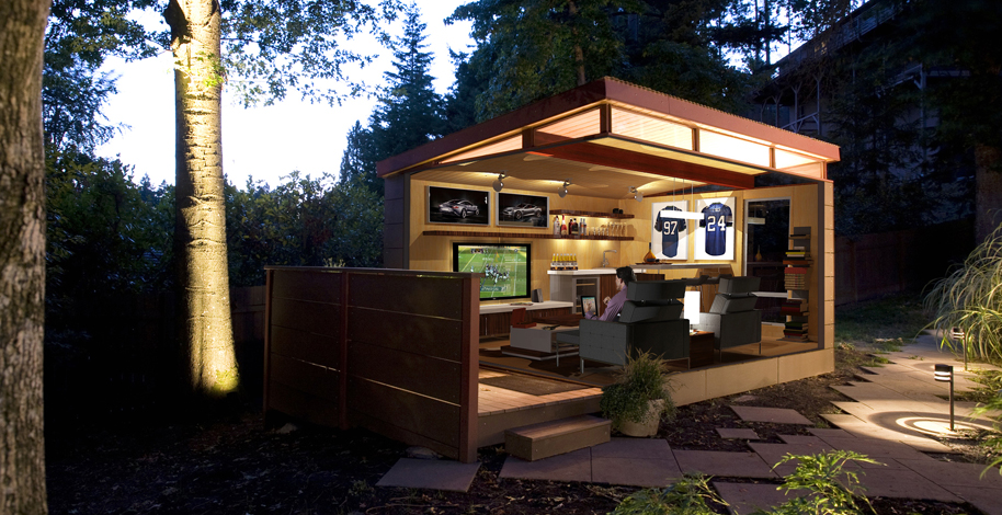 Try How to build a man cave shed