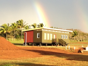 Some Modern-Shed clients choose multiple colors for their sheds -- and this rainbow is a nice bonus!