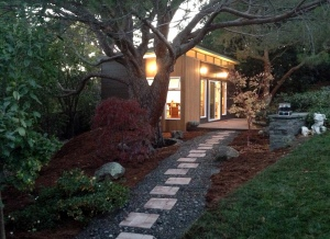 This 14' X 24' backyard art studio offers solitude while painting.