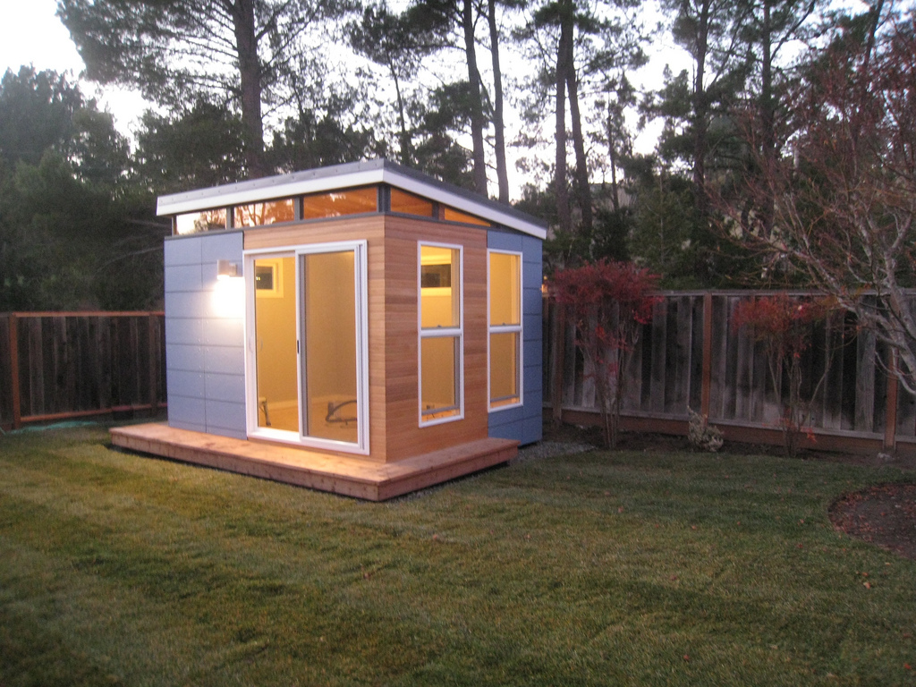 Outdoor shed office