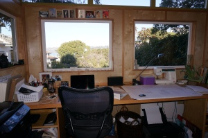 Fay Mark's Modern-Shed has a view of Richardson Bay in California.