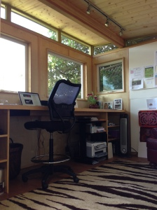 Fay Mark uses her Modern-Shed for a variety of uses.