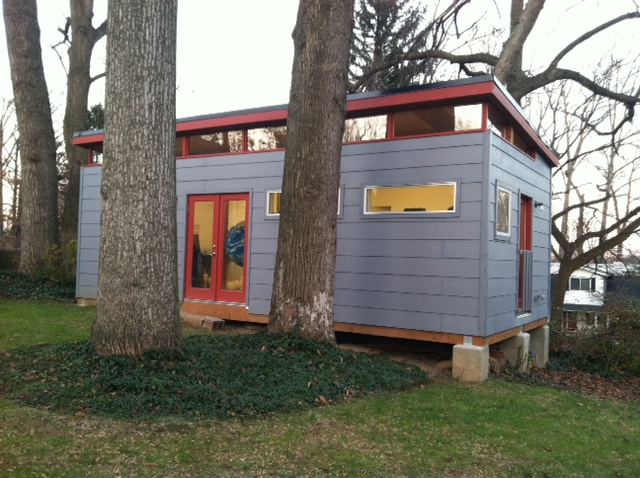 Andy Yoder uses his 14' by 30' Modern-Shed to create his innovative art sculptures.