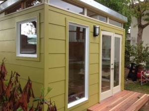 Kimberli Moffitt-Tsui's 8' by 12' Modern-Shed home office.
