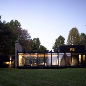 David's modern-style home in rural Pennsylvania.