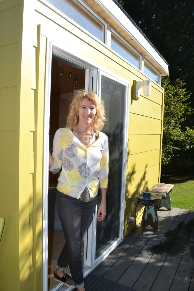 Kristie plans to use her Modern-Shed as a home office and creative space.