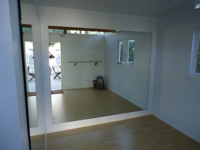 One Modern-Shed client turned half of his 12' by 26' shed into a ballet studio for his daughter.