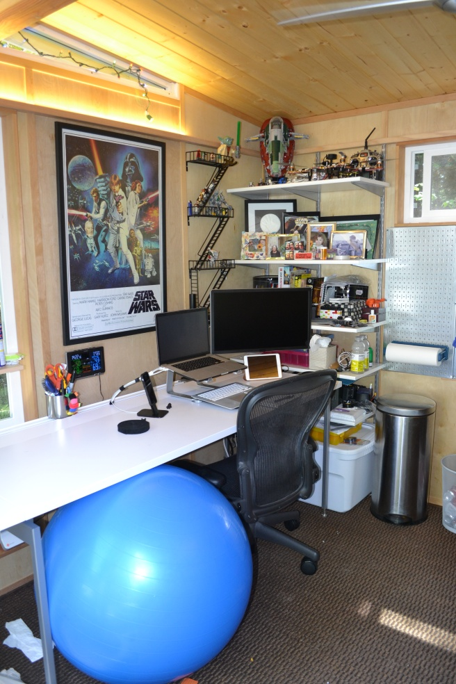 Charles' Modern-Shed is the perfect work space, with a little play thrown in.