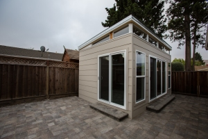 This 12 by 18 Modern-Shed home gym serves as a Krav Maga training facility.