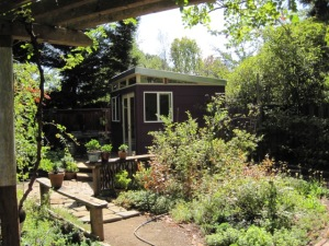 Friends have told Byron and Elzabeth that the shed makes their garden look bigger.