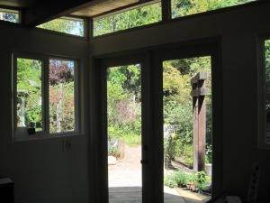Byron and Elizabeth recommend thinking about window placement and other egress when planning a Modern-Shed.